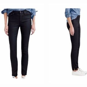 J. Crew Lookout High Rise Coated Black Jeans Size 29